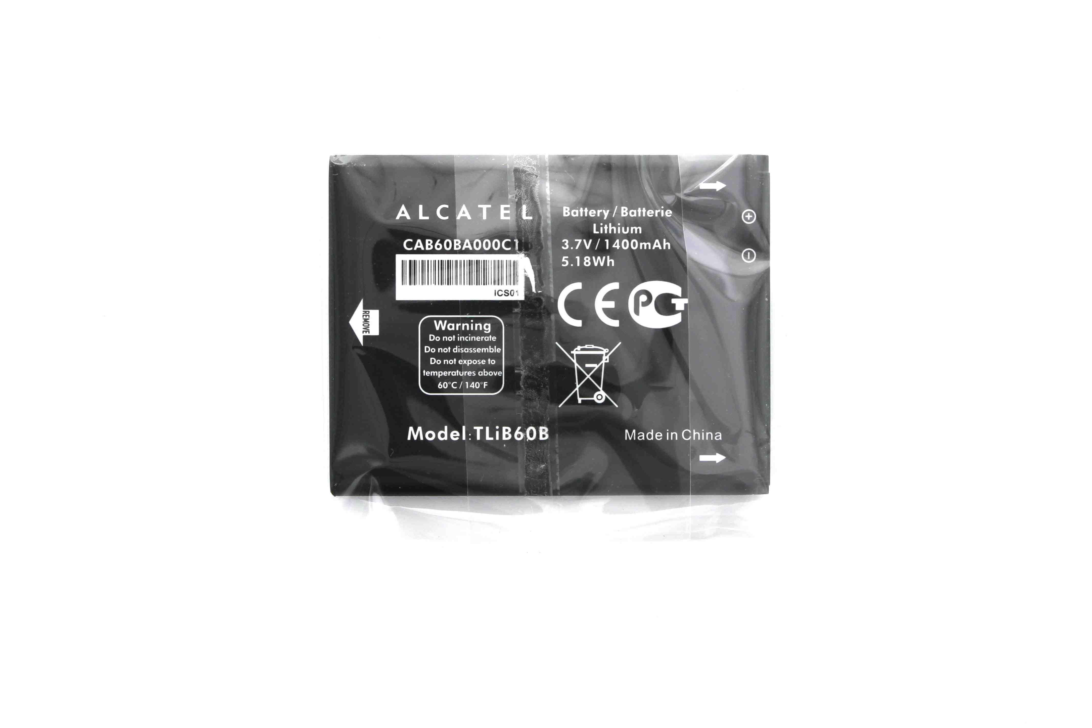 Alcatel 5020T 1400 mAh Battery - CAB60A000C1 OEM