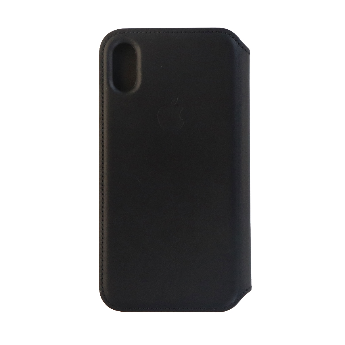 Apple Leather Folio Case Cover for Apple iPhone X 10 - Black Leather