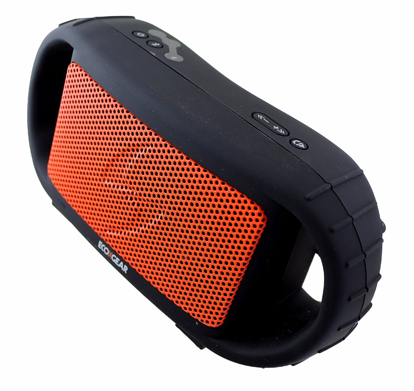 EcoXGear EcoXBT Weather & Water-Proof Wireless Bluetooth Speaker - Black/Orange