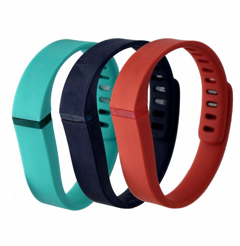 Fitbit Flex Sport Replacement Accessory Band 3-Pack - Teal/Orange/Dark Blue