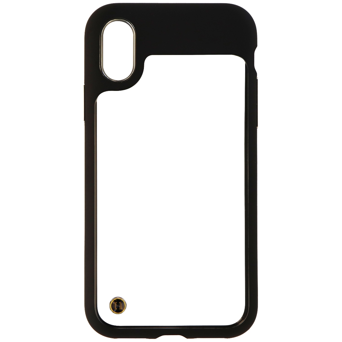 Granite Mono Series Hardshell Case Cover for Apple iPhone X (10) - Clear/Black