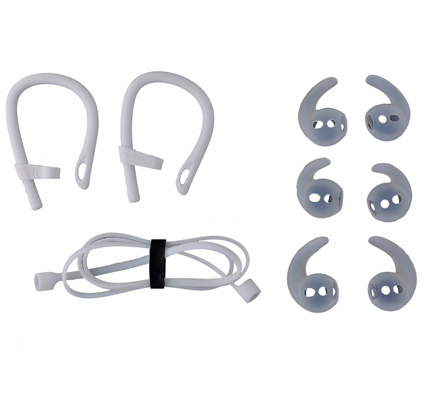 Insignia earbud accessories compatible with Airpods - White
