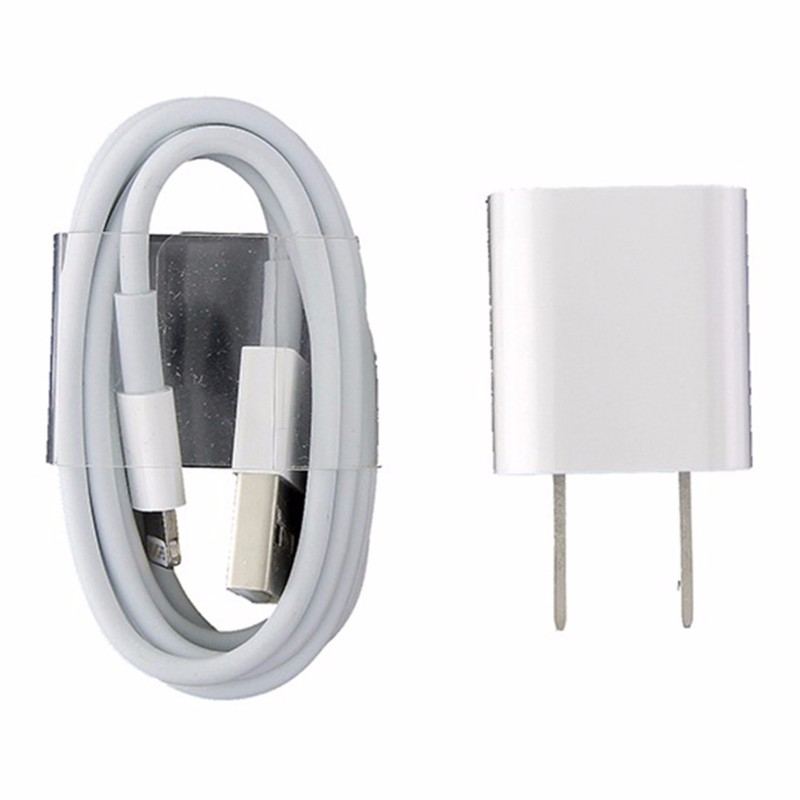 Apple Lightning USB Cable and 5W Wall Adapter MD818ZM/A A1265 A1385 X 8 7 6