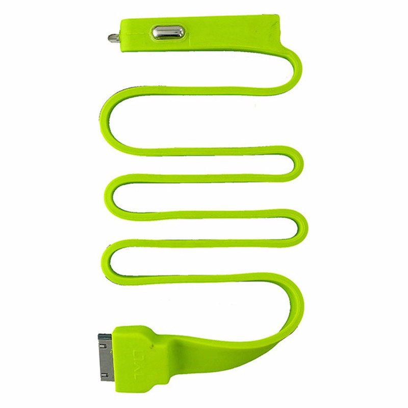 Tylt BAND Apple Car Charger with Built-In USB 2.1A - Green