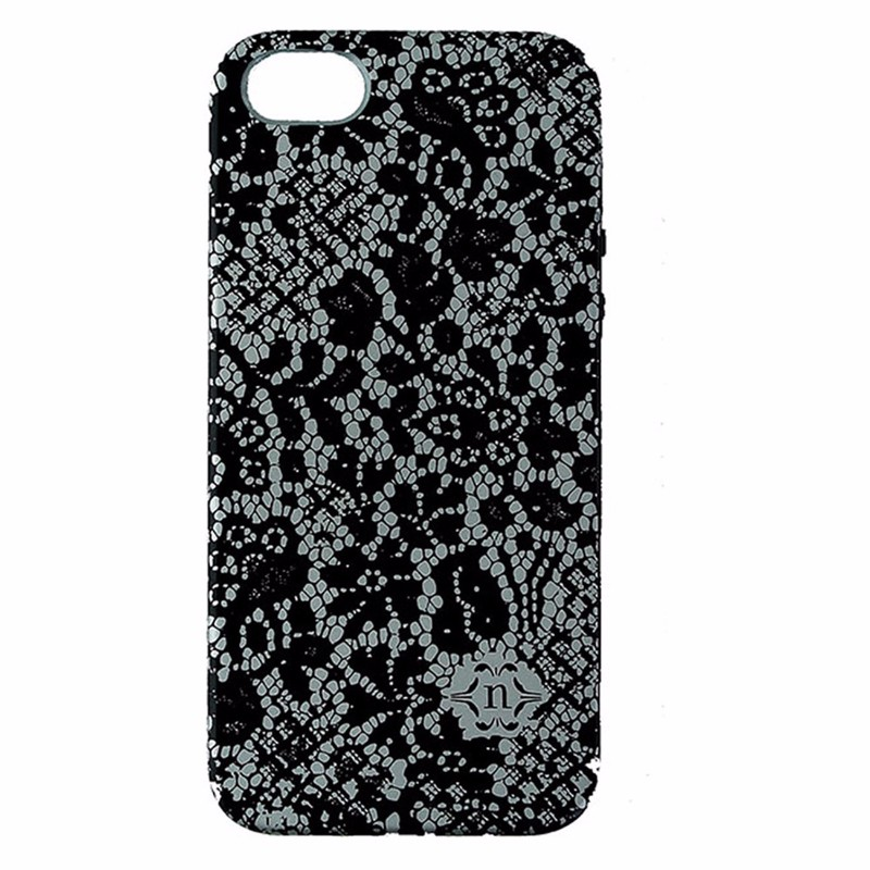 Nanette Lepore Dual Layer Case for iPhone 5/5S/SE - Black and Gray - Lace Design