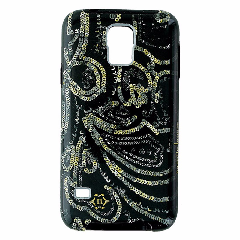 Nanette Lepore Dual Layer Case for Galaxy S5 - Dark Green and Gold - Sequin