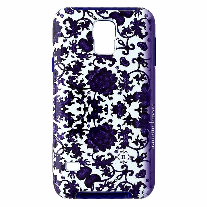 Nanette Lepore Dual Layer Case for Galaxy S5 - White and Purple Floral