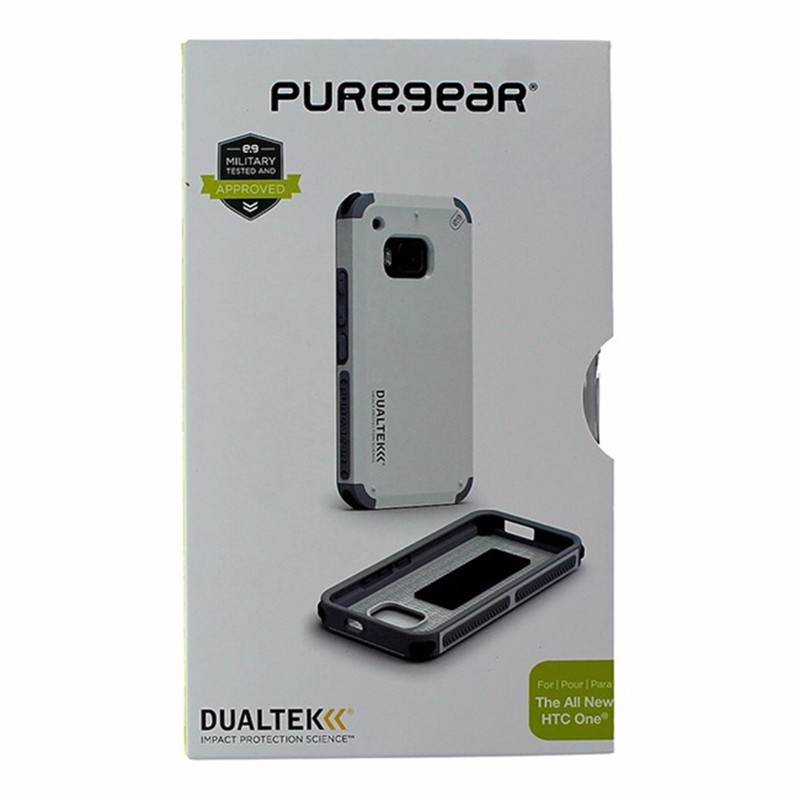 PureGear DualTek Impact Case for HTC One M9 - White / Gray