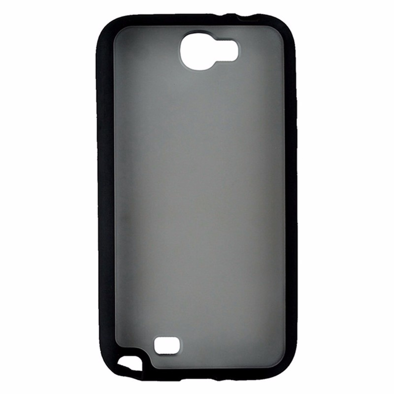 Frosted Hybrigel Case for Samsung Galaxy Note II - Frosted / Black Border