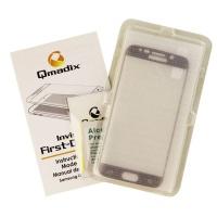 Qmadix Invisible Tech-Armor Glass Screen for Galaxy S6 Edge - Clear/Black Border