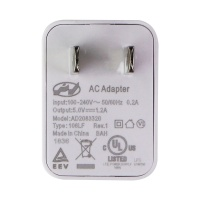 Single USB AC Adapter Wall Charger Power Plug - White (AD2083320)