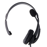 Insignia NS-PAH5101 - PC Headset with Flexible Boom Microphone - Black
