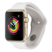 Apple Watch Sport 7000 Series (42mm) A1554 Gold Aluminum/White Sport Band