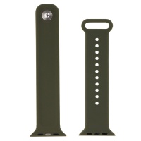 Premium Adjustable Silicone Watch Band for the 42mm Apple Watch - Dark Green