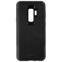 Granite Genuine Leather Hybrid Hard Case for Samsung Galaxy S9+ (Plus) - Black