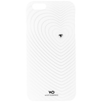 White Diamonds Heartbeat Case for Apple iPhone 6s / 6 - White/Frost/Heart Gem