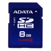 ADATA 8GB SDHC Class 4 Memory Card (ASDH8GCL4-R) - Blue