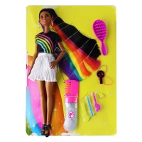 Barbie Rainbow Sparkle Hair Doll with Accessories (Version 1)