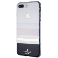 Kate Spade Flexible Hard Case for iPhone 8 Plus/7 Plus - Clear/Charlotte Stripe