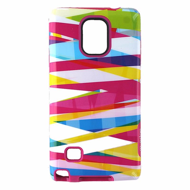 M-Edge Echo Hybrid Case for Samsung Galaxy Note4 - Pink / Multi Ribbon