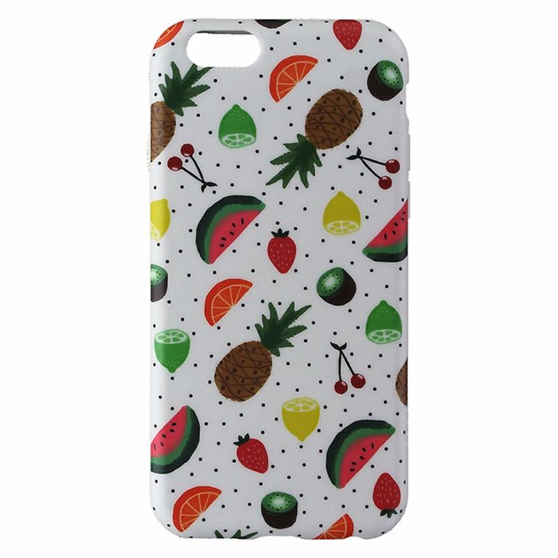 Agent 18 Flexshield Gel Case for iPhone 6 / 6s - White / Black Dots / Fruit
