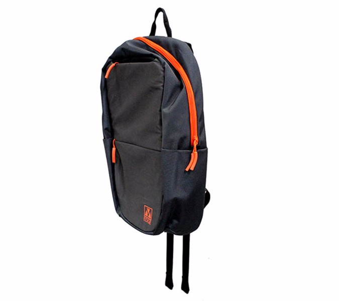 M-Edge Tech Backpack w/ 4000mAh Battery fits Up To 15 inch Laptops - Gray/Orange