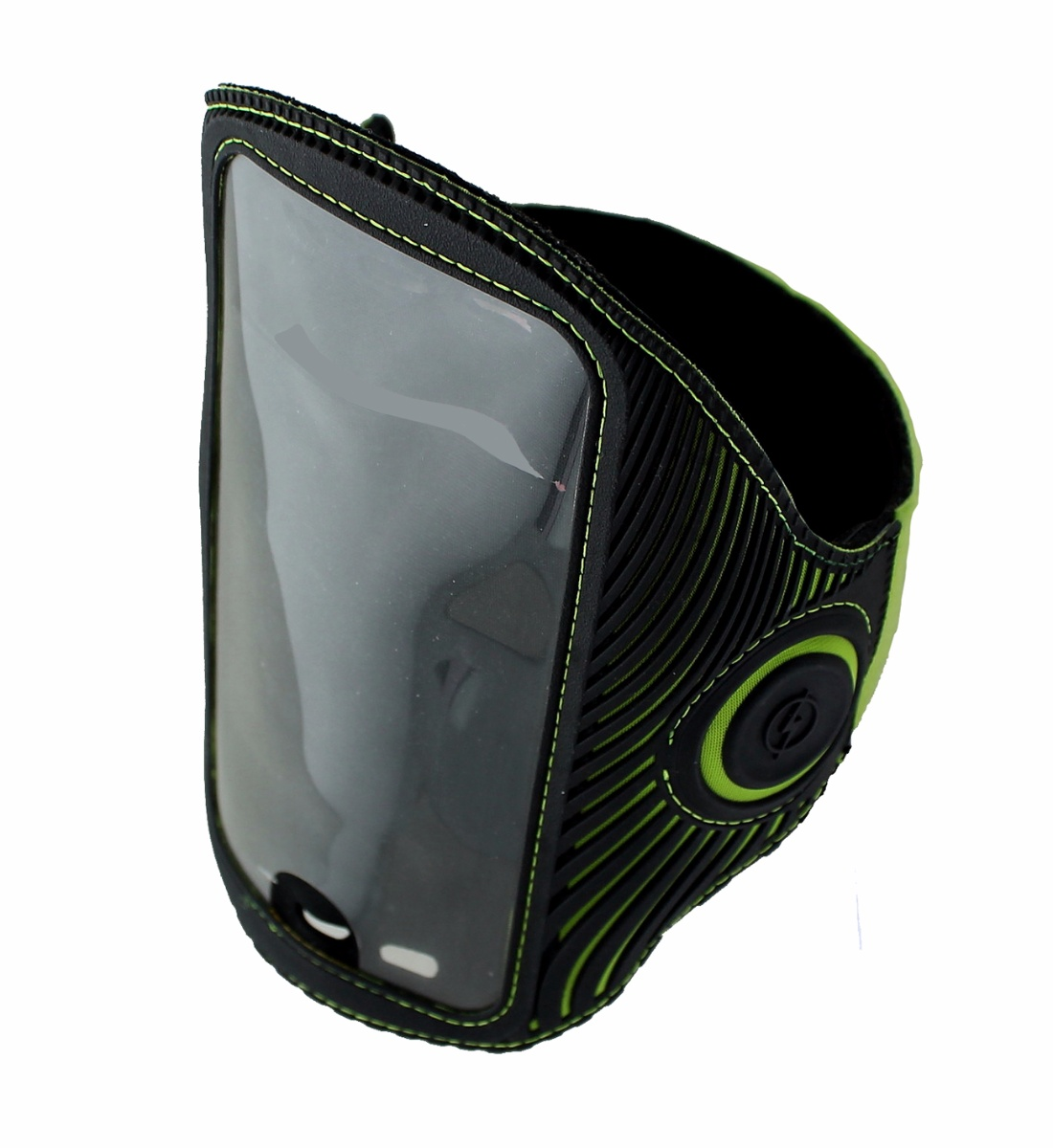 Griffin LightRunner Flashing ArmBand for Phones up to 5.5 inch - Black / Green