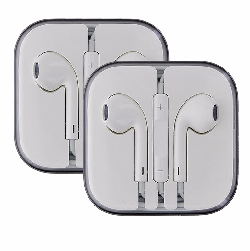 APPLE iPhone 5 6 Plus EarPods Earphones with Remote and Mic *Pack of 2*
