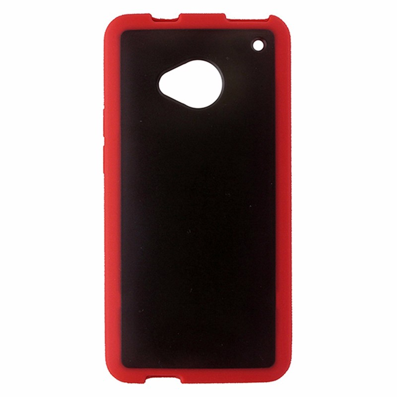 Technocel Protective Case Smoke Gray Red Border for HTC One (M7)