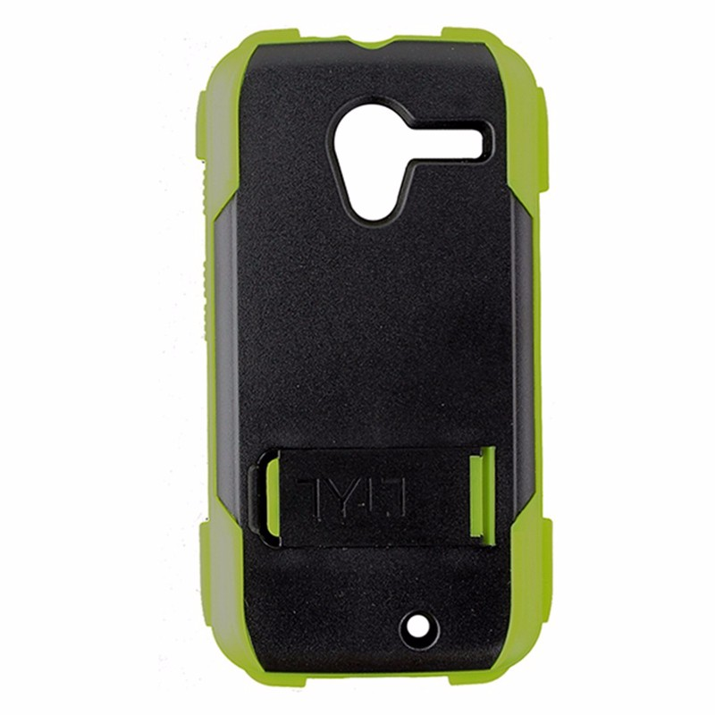Tylt Ruggd Series Hybrid Kickstand Case for Motorola Moto X - Lime Green / Black