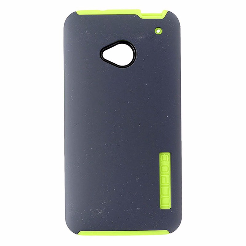 Incipio DualPro hard-shell Case for HTC One - Gray/Neon Yellow