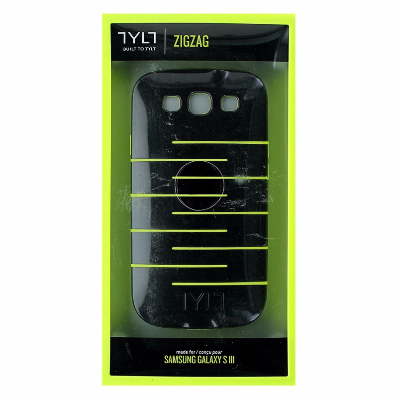 TYLT ZIGZAG Series Hybrid Case for Samsung Galaxy S3 - Black/Lime