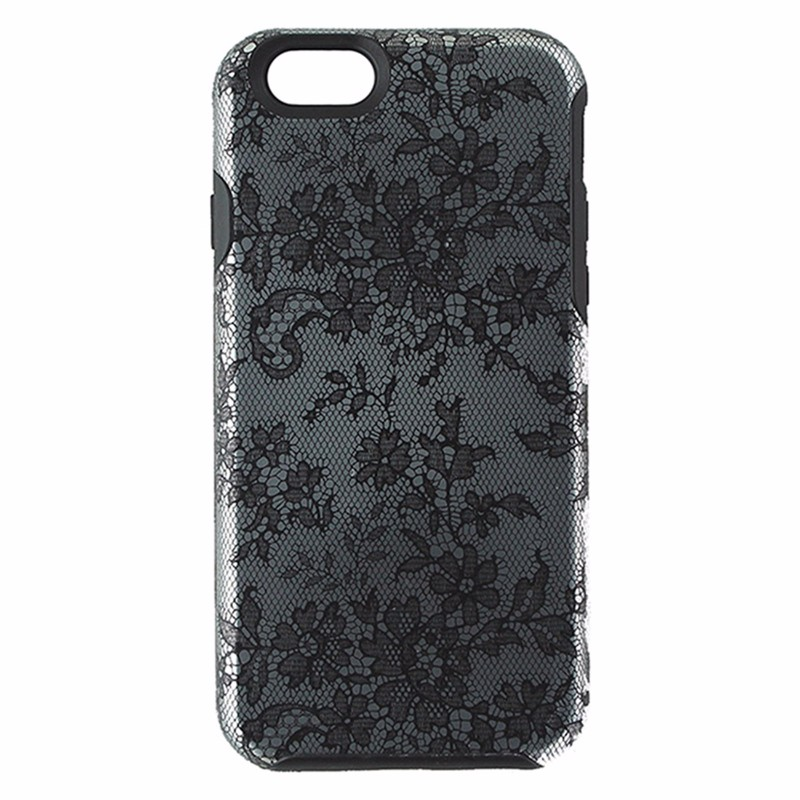 Agent 18 Shock Series Shell Case for iPhone 6 / 6s - Fishnet Lace /Black /Silver