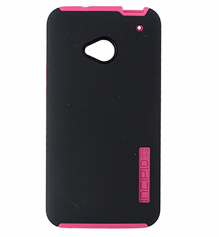 Incipio DualPro Series Dual Layer Case for HTC One - Matte Black / Neon Pink