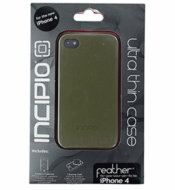 Incipio Feather Series Slim Hardshell Case for iPhone 4/4s - Olive Green