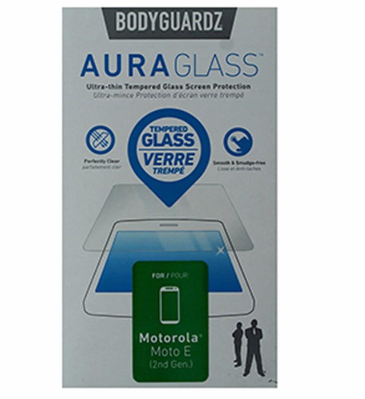 BodyGuardz AuraGlass Tempered Glass Screen Protector for Moto E 2nd Gen - Clear