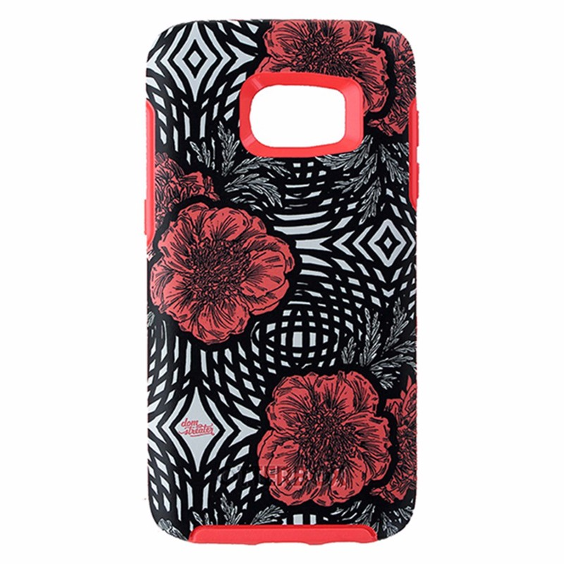 OtterBox Symmetry Series Hybrid Case for Samsung Galaxy S7 - Black/ Pink Flowers