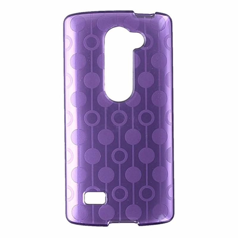 T-Mobile Flex Protective Gel Case for LG Leon - Purple Circle Pattern