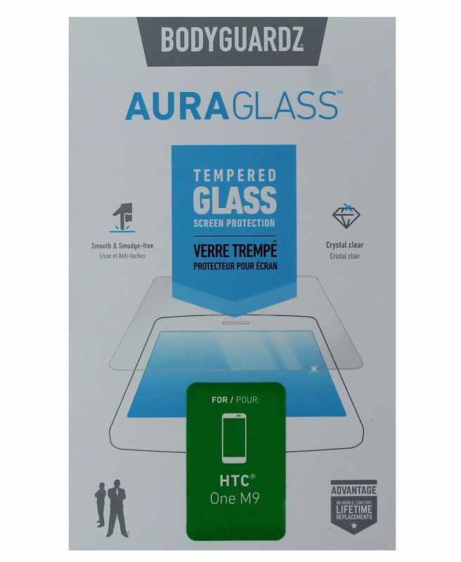 BodyGuardz Aura Glass Tempered Glass Screen Protector for HTC One M9 - Clear