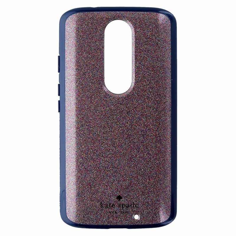 Kate Spade New York Hybrid Case for Motorola Droid Turbo 2 - Multi Glitter/Navy