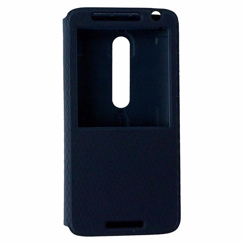 Motorola Folio Flip Case for Motorola Droid Maxx 2 - Navy Blue