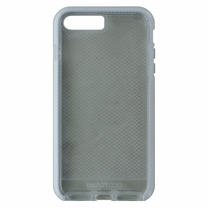 Tech21 Evo Check Series Flexible Gel Case Cover iPhone 7 Plus - Clear / White