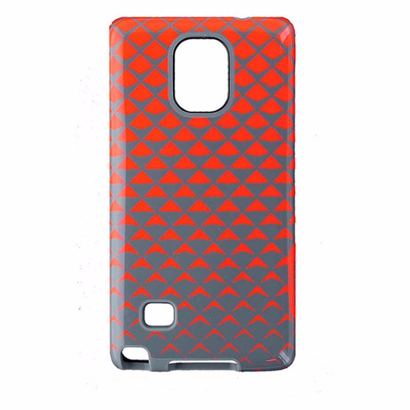 M-Edge Echo Series Hybrid Case for Samsung Galaxy Note4 - Orange / Gray