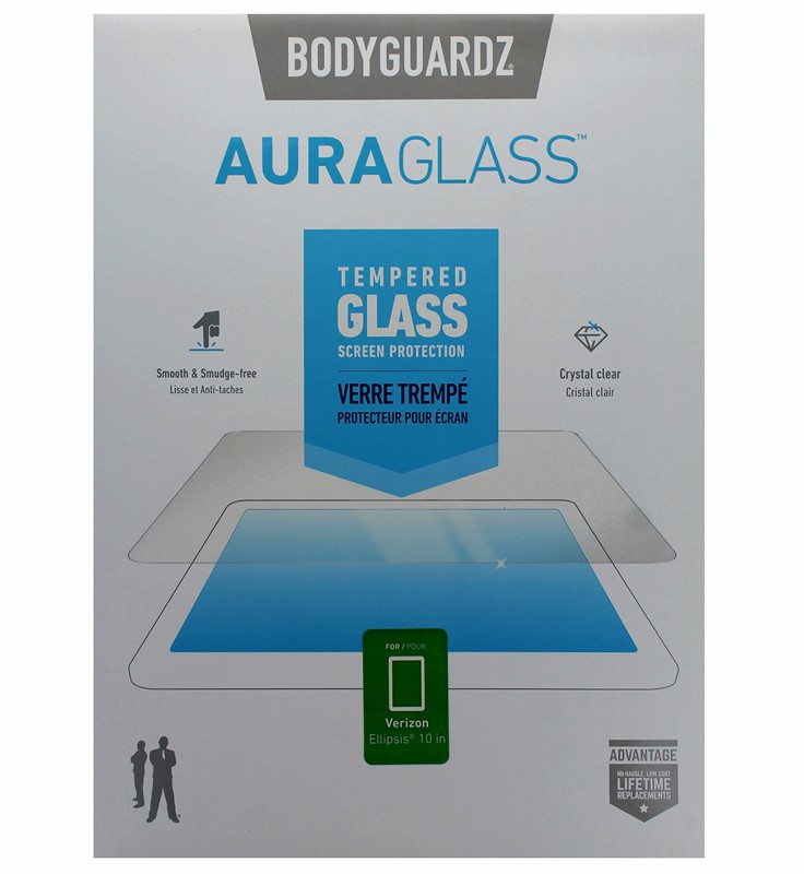 BodyGuardz Aura Glass Tempered Glass Screen Protector for Ellipsis 10 - Clear