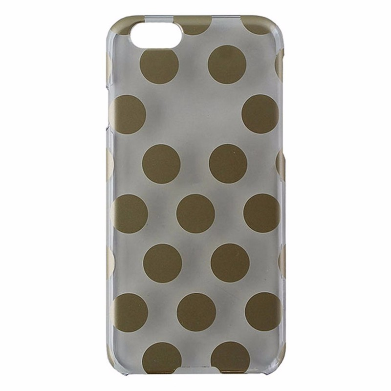 Agent18 Slimshield Case for iPhone 6 / 6s - Clear / Gold Polka Dots