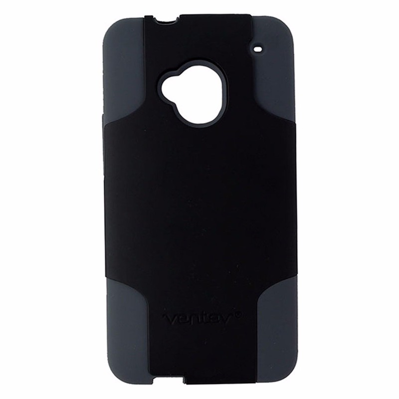 Ventev Fusion Pro Series Dual Layer Case for HTC One M7 - Black / Gray