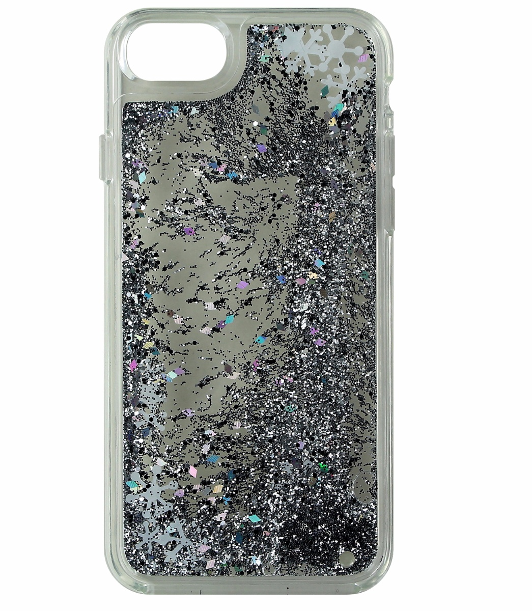 Milk and Honey Hybrid Glitter Case Cover Apple iPhone 7 6s 6 - Clear Silver Snow