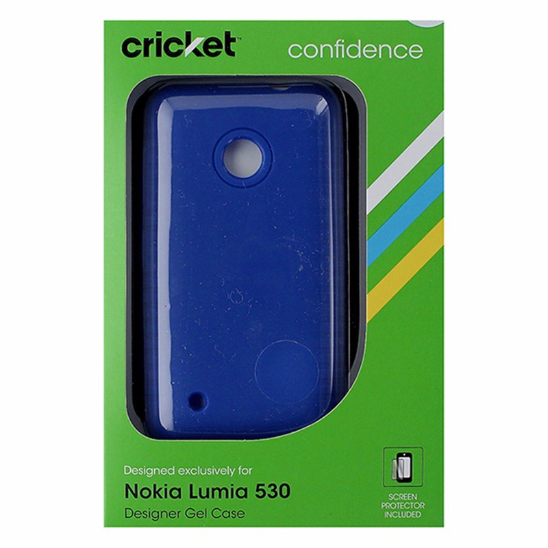 Cricket Designer Soft Gel Case for Nokia Lumia 530 - Blue