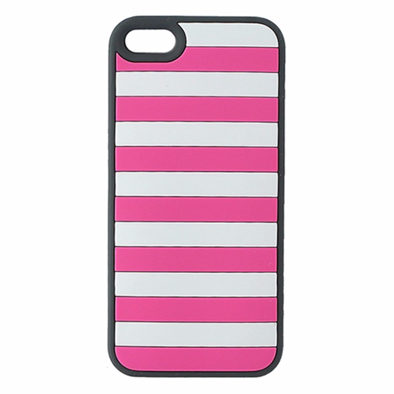Agent18 StripeVest iPhone 5/5s/SE Case - Pink / Gray