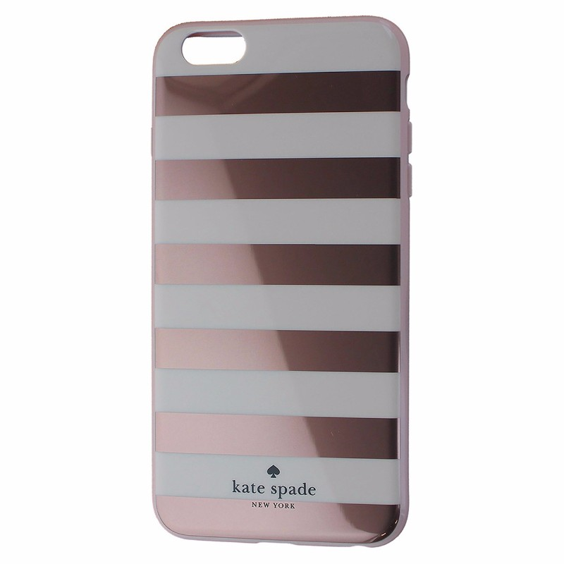 Kate Spade New York Hybrid Case for iPhone 6 Plus/6s Plus - Striped Rose Gold
